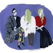 иллюстрация первого ряда. Тим Ильясов, Екатерина Одинцова, Малена Маяковская