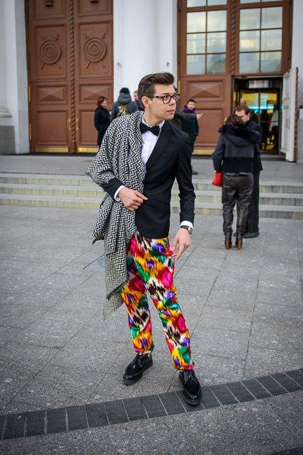 Тим Ильясов в брюках Yekaterina Ivankova