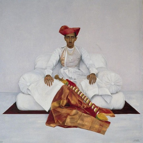 the maharaja-His Highness Yashwant Rao Holkar II, Maharaja of Indore (1908-1961) by Bernard Boutet de Monvel. 1920's
