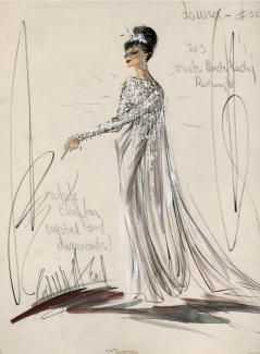 Edith Head sketch f or Shirley MacLaine in What A Way To Go! (1964)