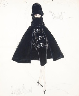Edith Head sketch for A New Kind of Love (1963)