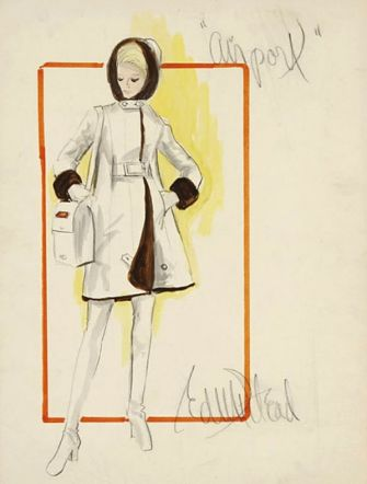 Edith Head sketch for Airport (1970)