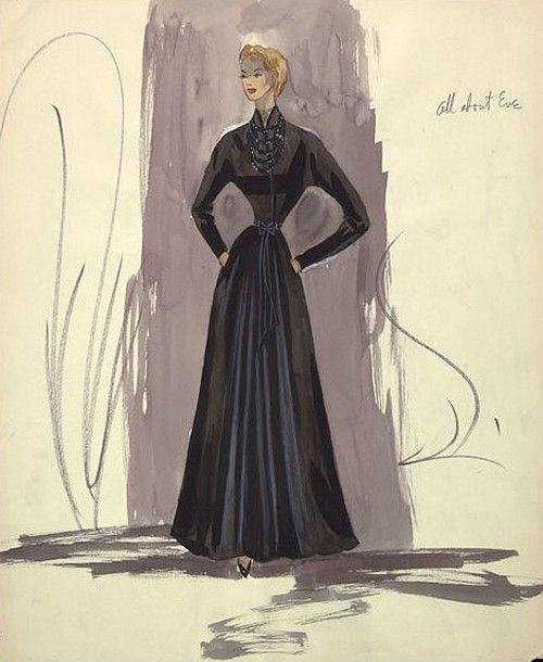 Edith Head sketch for All About Eve (1950)