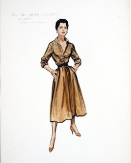 Edith Head sketch for Anna Magnani in Wild is the Wind (1957)