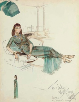 Edith Head sketch for Anne Baxter as 'Nefretiri' in The Ten Commandments (1956)