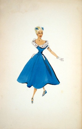 Edith Head sketch for Betty Hutton in Let's Dance (1950)