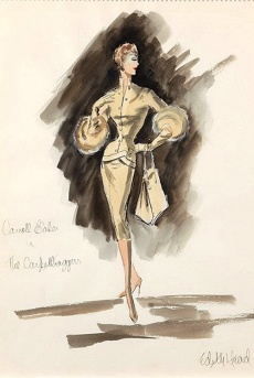 Edith Head sketch for Caroll Baker in The Carpetbaggers (1964)