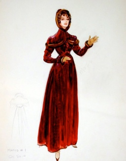 Edith Head sketch for Claire Bloom in The Buccaneer (1958)
