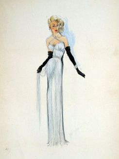 Edith Head sketch for Corinne Calvet in My Friend Irma Goes West (1950)