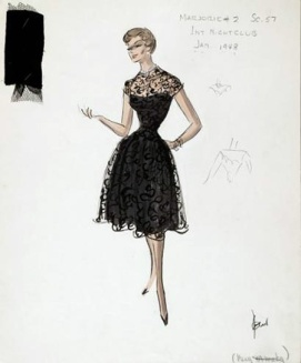 Edith Head sketch for Donna Douglas in Career (1959)Edith Head sketch for Donna Douglas in Career (1959)