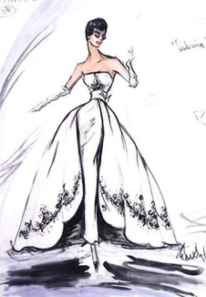 Edith Head sketch for Doris Day in Alfred Hitchcock's The Man Who Knew Too Much (1956)