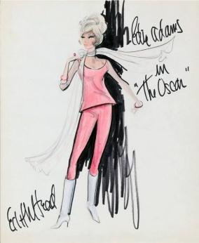 Edith Head sketch for Edie Adams in The Oscar (1966)