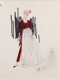 Edith Head sketch for Elke Sommer in The Oscar (1966)
