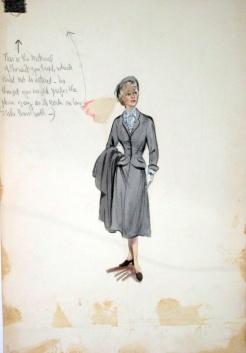 Edith Head sketch for Helen Hayes in My Son John (1952)