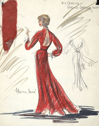 Edith Head sketch for Hope Lange in A Pocket Full of Miracles (1961)