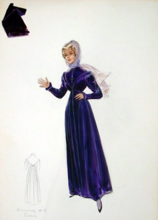 Edith Head sketch for Inger Stevens in The Buccaneer (1958)