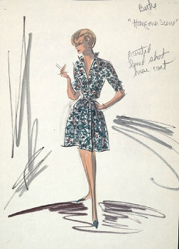 Edith Head sketch for Janet Leigh in Wives and Lovers (1963)