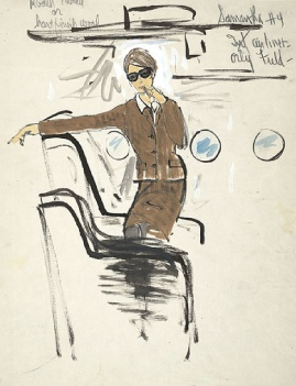 Edith Head sketch for Joanne Woodward in A New Kind of Love (1963)