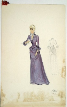 Edith Head sketch for Judith Anderson in The Furies (1950)