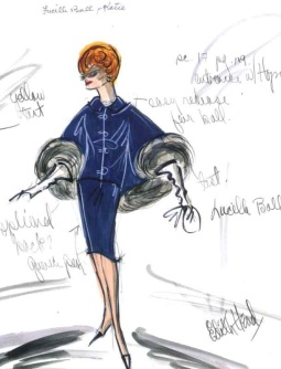 Edith Head sketch for Lucille Ball