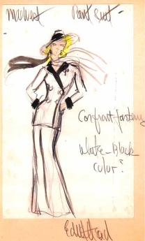 Edith Head sketch for Mae West in Sextette (1978)
