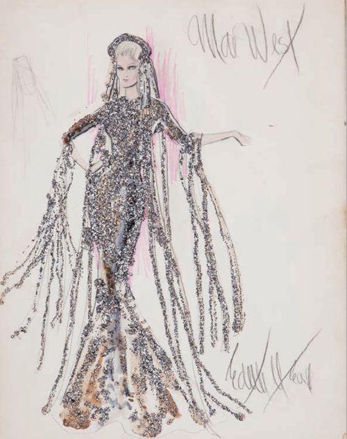 Edith Head sketch for Mae West