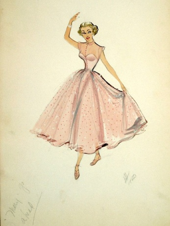 Edith Head sketch for Marge Champion in Mr. Music (1950)