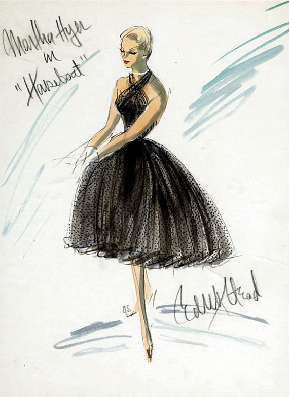 Edith Head sketch for Martha Hyer in Houseboat (1958)