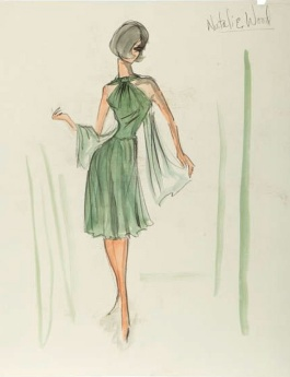 Edith Head sketch for Natalie Wood in Love with the Proper Stranger (1963)
