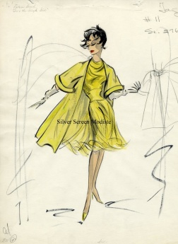 Edith Head sketch for Natalie Wood in Sex and the Single Girl (1964)