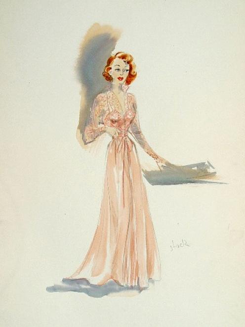 Edith Head sketch for Polly Bergen in That's My Boy (1951)