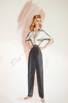 Edith Head sketch for Rhonda Flemming in Lost Treasure of the Amazon (1954)