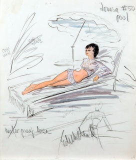 Edith Head sketch for Shirley и MacLaine in What A Way To Go! (1964)