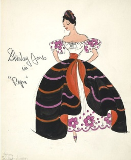 Edith Head sketch for Shirley Jones in Pepe (1960
