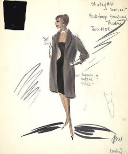 Edith Head sketch for Shirley MacLaine in Career (1959)