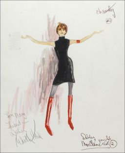 Edith Head sketch for Shirley MacLaine