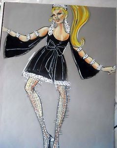 Edith Head sketch for Sweet Charity (1969)