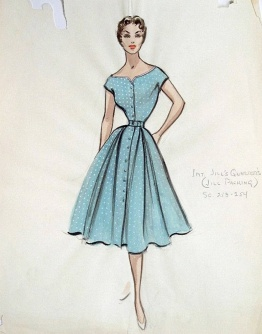 Edith Head sketch for Three Ring Circus (1954)