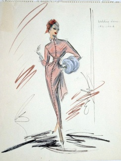 Edith Head sketch for Vera Miles in Beau James (1957)