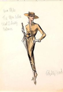 Edith Head sketch for Vera Miles in The Man Who Shot Liberty Valance (1962)