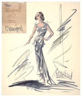 Head sketch for Joan Crawford
