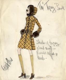 Head sketch for Karin Dor in Topaz (1969)